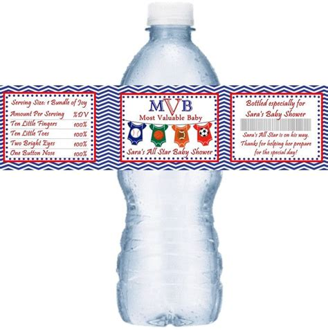 star sport baby shower water bottle labels creative inexpensive baby shower ideas baby
