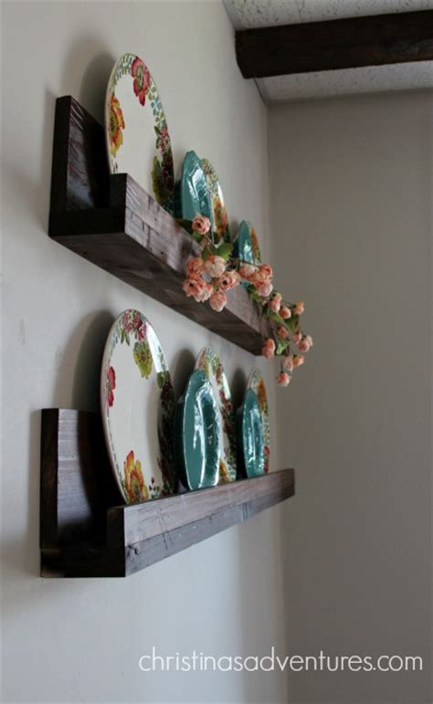 simple diy ledge shelf tutorial christinas adventures