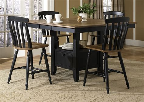 al fresco black gathering table dining room set from