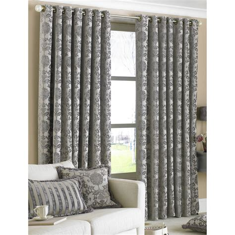 curtains silver paoletti hanover curtains in silver next day delivery