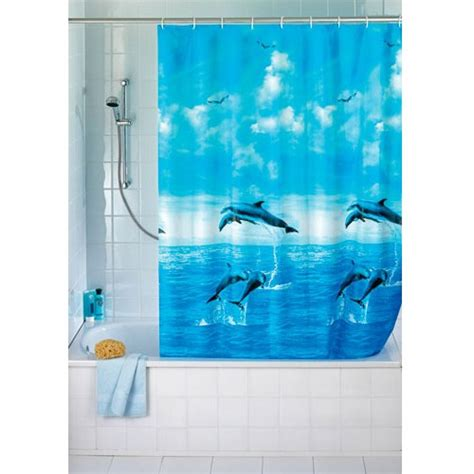 dolphin shower curtains wenko dolphin peva shower curtain 1800 x 2000mm