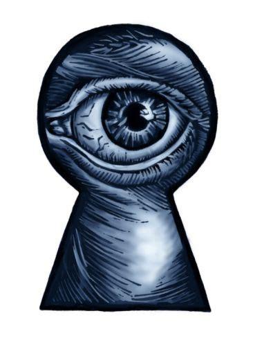 eye keyhole tattoo eye looking through a keyhole other at art com through