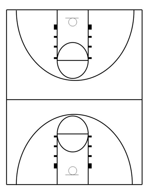 best photos of drawing basketball template simple