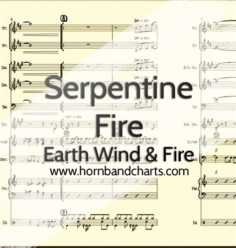 earth wind and fire horn section serpentine fire horn chart pdf horn band charts