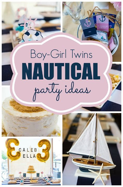 Twins Nautical Birthday Party   Pretty My Party