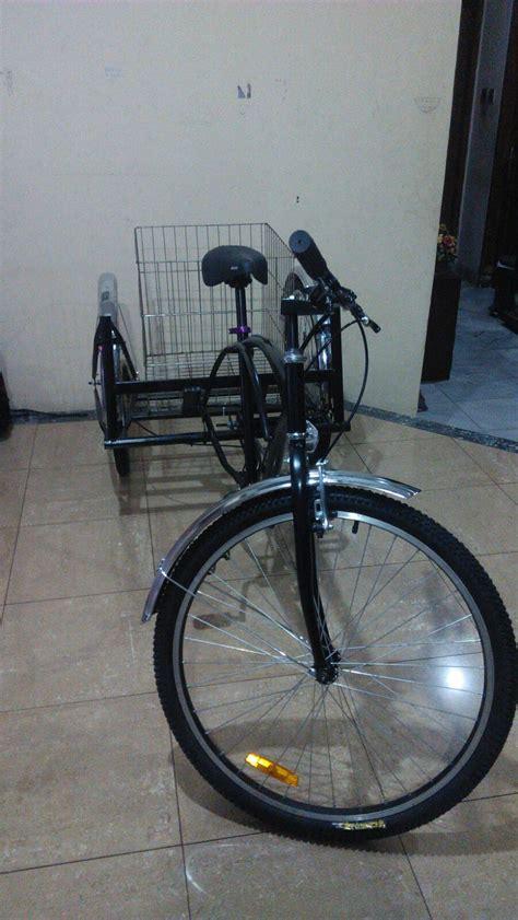 Sepeda Keranjang Wanita Dewasa sepeda roda tiga cruiser dewasa