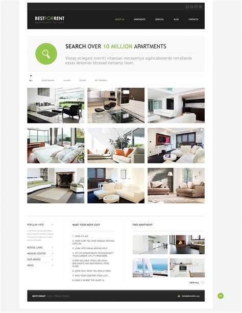 apartment rental flyer template apartments for rent joomla template 46371