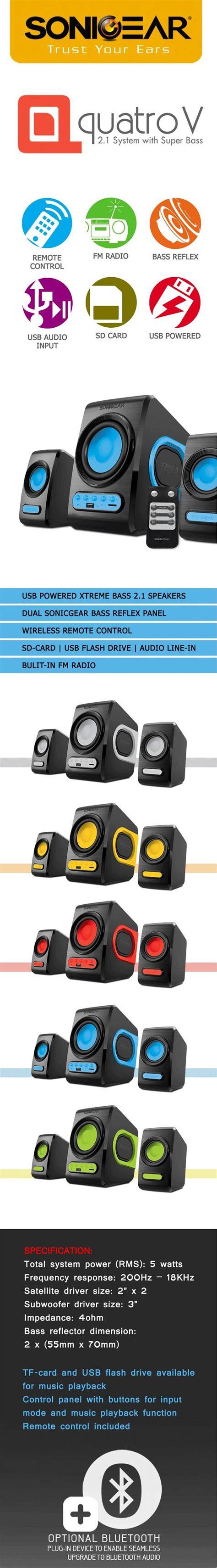 Speaker Sonicgear Quatro V Bass Pc Laptop Notebook Grey sonic gear quatro v powered by usb end 1 19 2019 5 15 pm