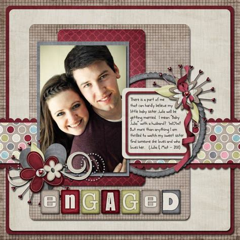 Scrapbook Layout Ideas For Relationships   606 best images about scrap wedding engagement