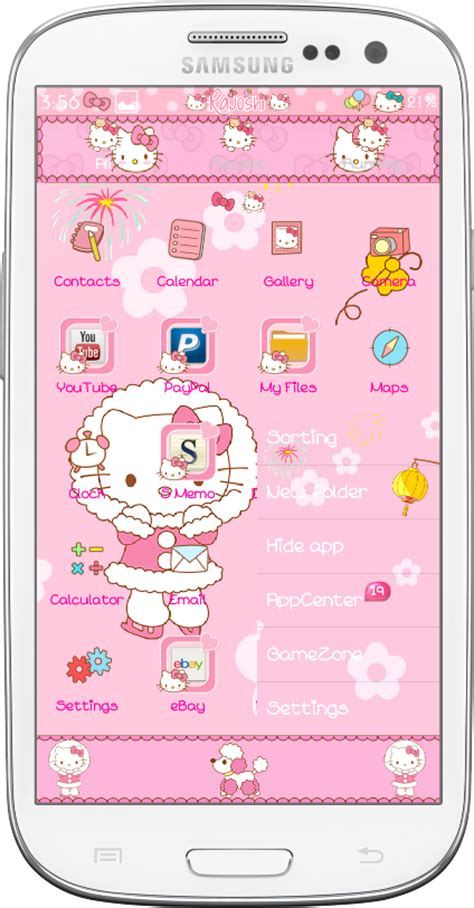 download go launcher theme hello kitty for android by hello kitty winter go launcher theme android themes