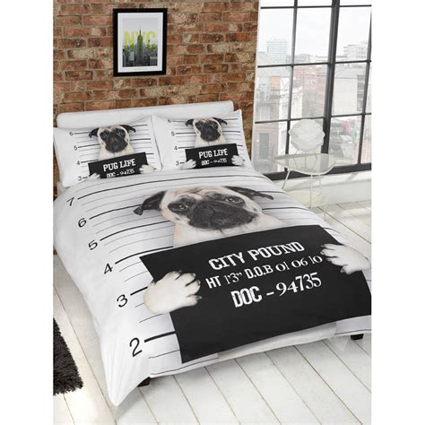 pug bedspread b m pug single duvet set 299507 b m