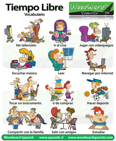 imagenes en ingles weekend tiempo libre y ocio vocabulario