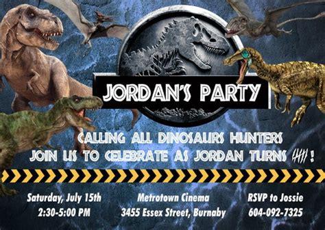 Printable Jurassic World Birthday Invitations | jurassic world birthday custom invitation
