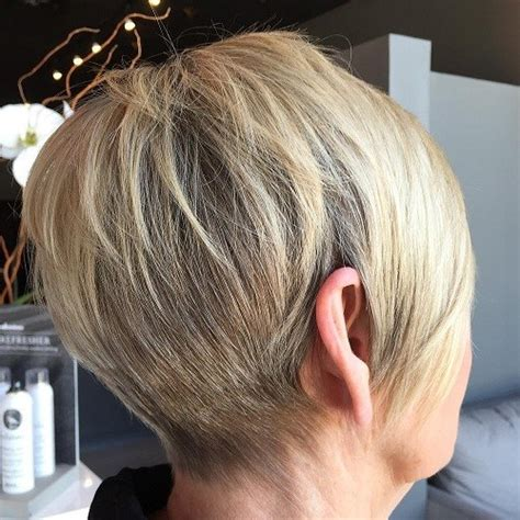 tapered gray bob with bangs soft tapered bob with side swept bangs short hairstyles