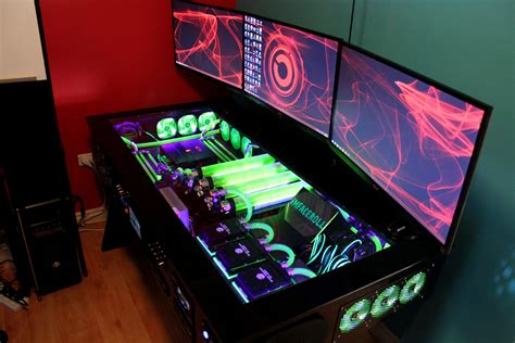 coolest pc rigs my computer rig tower pc gaming setup liquid cooled www