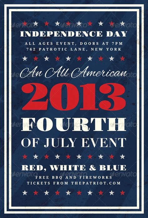 fourth of july flyer template free independence fourth of july flyer template graphicriver