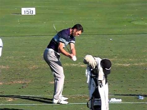 martin kaymer golf swing martin kaymer golf swing in high speed down the line