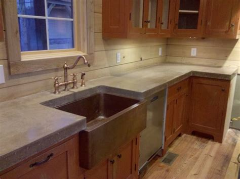 Cement Kitchen Countertops by Cast N Place Concrete Countertops Traditional Kitchen