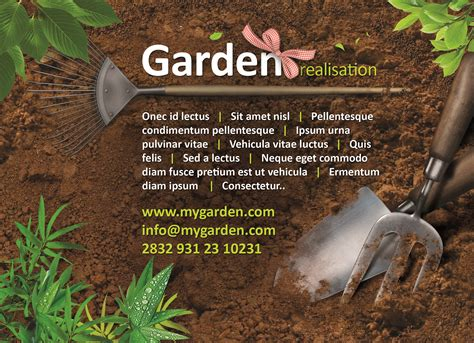 flyer templates gardening garden flyer tempees com