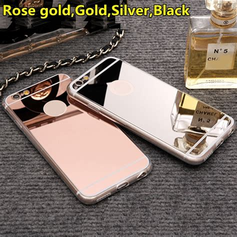 Iphone 7 Plus Casing List Chrome Tpu Soft Cover Casing lifone gold luxury mirror flash fashion for