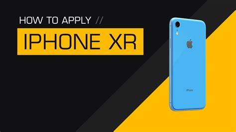 how to apply a dbrand iphone xr skin