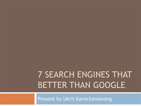 7 Search Engines That Better Than