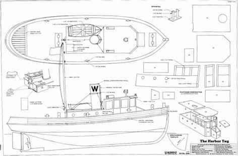 harbor tug plans aerofred   model