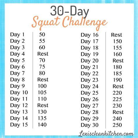 best 30 day squat challenge 30 day squat challenge s clean kitchen