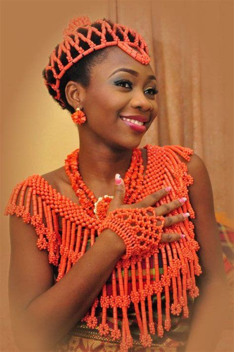 necklaces on traditional nigerian attires traditional wedding and marriage on pinterest