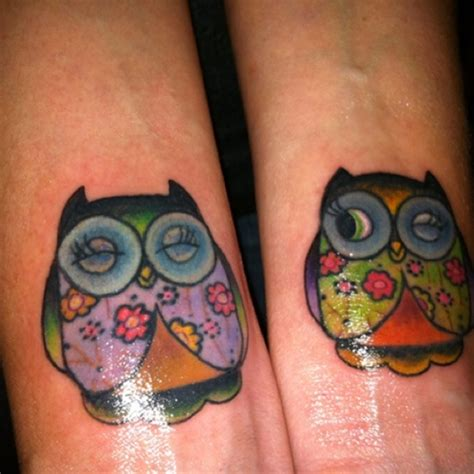colorful owl tattoo designs owl design
