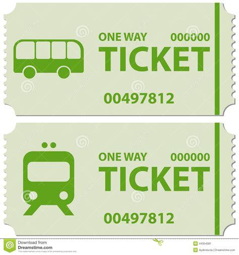 testo e la buss biglietti di treno e fotografia stock immagine