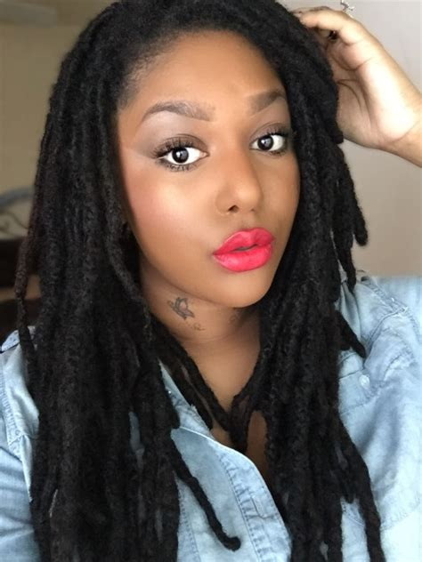 pictures of hair locks with thick hair loc styles on tumblr