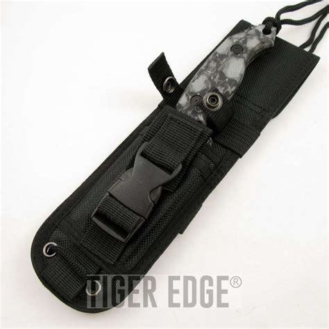 molle knife sheath mtech 8 quot grey skull tanto knife w molle