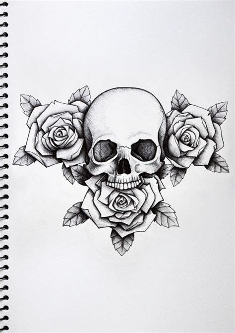 skull and roses tattoo design 25 best ideas about skull tattoos on skull