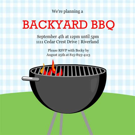 12 Best Photos Of Summer Bbq Invitation Word Template Summer Bbq Party Invitations Template Summer Bbq Invite Template