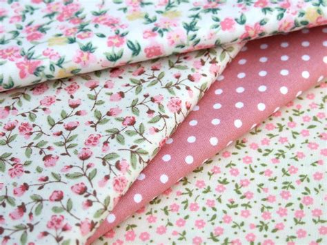 shabby chic floral fabric cotton fabric pink flower floral spot shabby chic patchwork dress bunting ebay