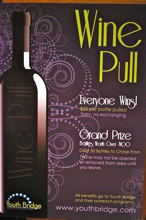 wine pull raffle flyer fundraising pinterest