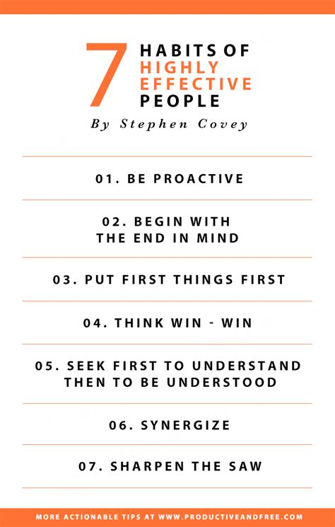 The 7 Habits Of Highly Effective By Stephen Rcovey 3 takeaways from the 7 habits of highly effective
