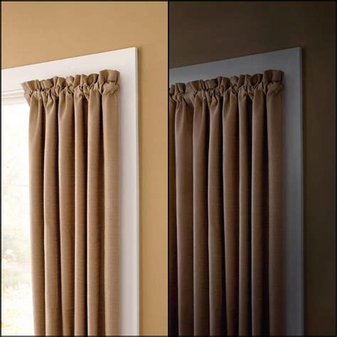 no rod curtains rod desyne 72 in 147 in adjustable lockseam single bay