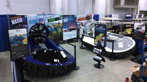 indianapolis boat show 2016 hoverstream on display at the indianapolis boat sport