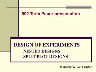 nested experimental design ppt class 3 between group designs expo facto designs