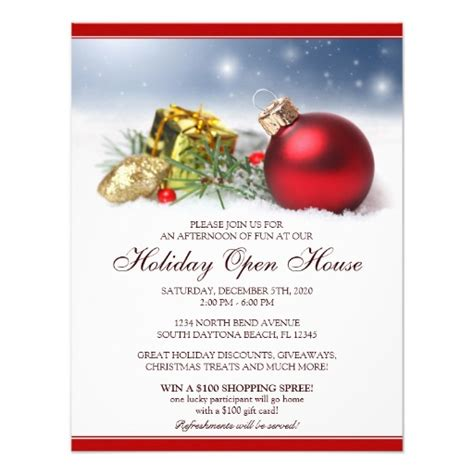 open office templates for invitations festive holiday open house invitations template