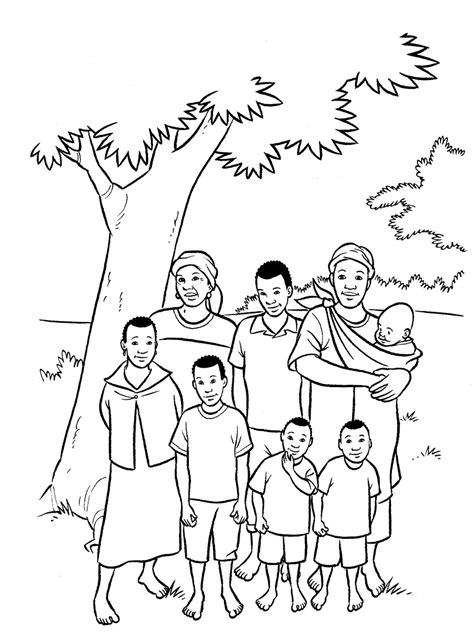 family of five coloring pages coloring pages