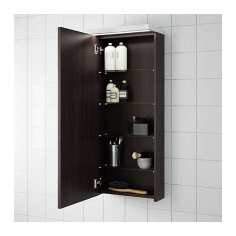 godmorgon wall cabinet with 1 door black brown 40x14x96 cm
