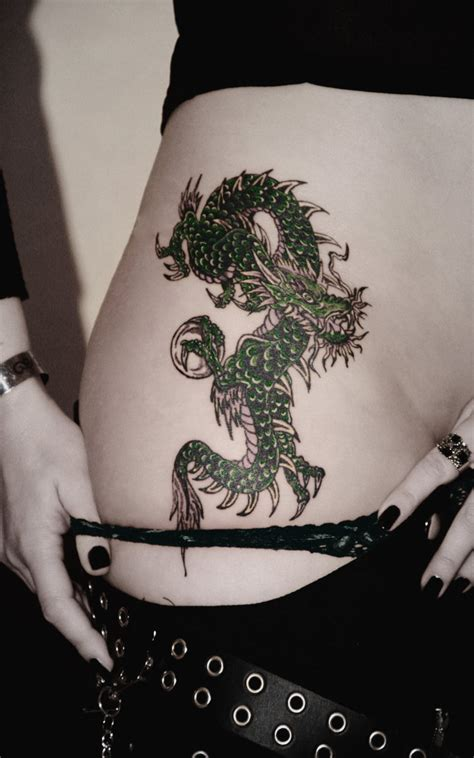 dragon thigh tattoo tattoos