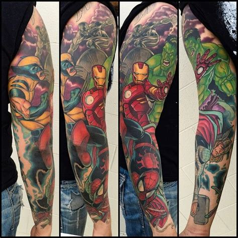 marvel sleeve tattoo 25 best ideas about on