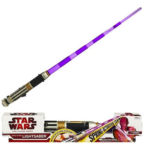 master windu lightsaber wars mace windu lightsaber hasbro