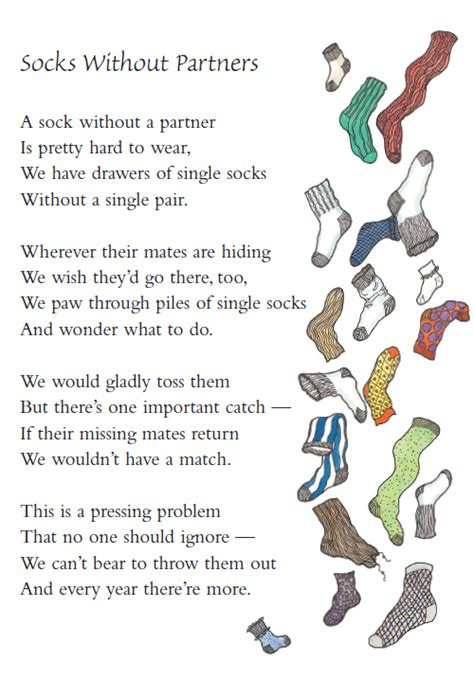 In Closet Poem by Poem Of The Week Socks Without Partners Children S