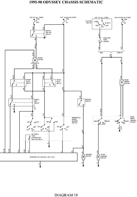 wiring diagram for 2005 honda odyssey wiring wiring