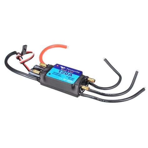 rc boat motors waterproof fvt boat0120 120a brushless senseless boat esc speed